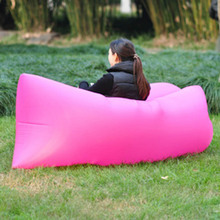 Outdoor Inflatable Lounger Lazy Guy Air Sofa for Lunch Rest Beach Sunbath Waterproof Sleeping Bag in Many Colors(China)
