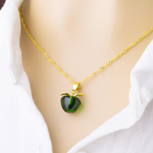 zheFanku Collier Jewelry Necklaces New Arrival Hot Sale Fashion Accesories Opals Small Apple Without Chain Pendant(China)