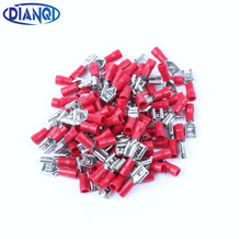 FDD1.25-250 insulating Female Insulated Electrical Crimp Terminal Connectors Cable Wire Connector 100PCS/Pack FDD1-250 FDD