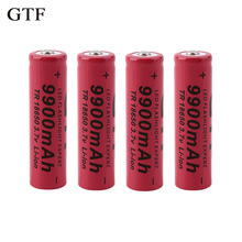 GTF rechargeable battery 18650 battery 3.7V 9900mAh rechargeable li-ion battery for Led flashlight Torch cell 18650 battery