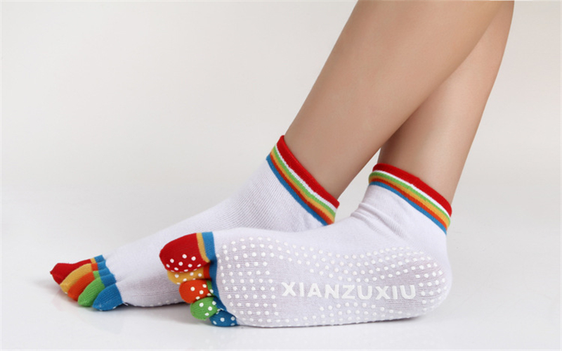 17 Colorful Socks Women Dance For Girls Short Socks With Silicone Peds Liners Tube Socks 27