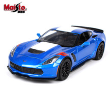 Maisto alloy car model 1:24 2017 Corvette Grand Sport car 2015 Zsimulation model Collection Diecast Toys Gifts for children