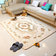 120x180CM European style Living Room Big Area Decoration Rose Carpet Bedroom Soft House Rug Door Mat Coffee Table Villus Carpets(China)