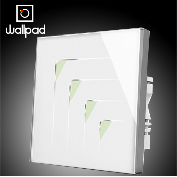 Smart home Wallpad White 4 gangs 2 way LED light switch touch 110V~220V, Luxury Crystal Glass touch wall switch, Free Shipping<br>