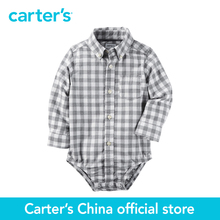 Carter's 1 pcs baby children kids Checkered Button-Front Bodysuit 225G607, sold by Carter's China official store