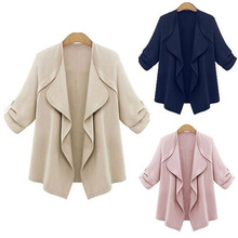 Fashion Jacket Women Thin Coat Loose Cardigan Thin Cotton Elegant Plus Size Clothing Female Outwear Shirt Coat
