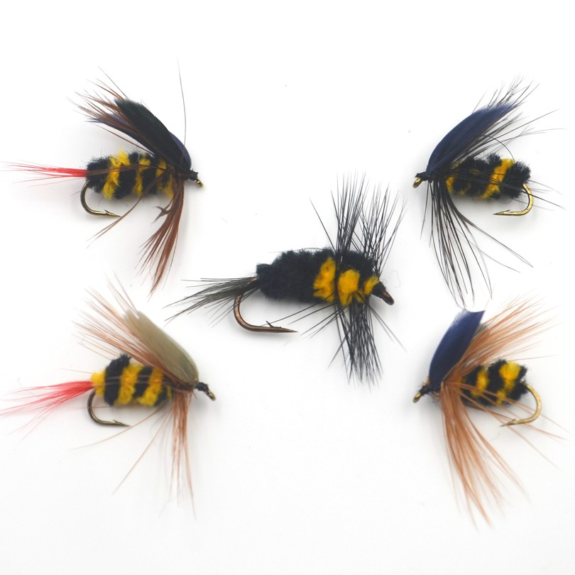 10PCS//Lots Foam Bumble Bee Nymph Trout Flies Fly fishing R0I1 Bionic L7Z0 B P9I6