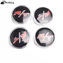 4pcs 60mm Car Emblem Badge Wheel Hub Caps Centre Cover RT R/T for Dodge Charger Ram 1500 Challenger Jeep Grand Cherokee(China)