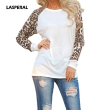 Buy LASPERAL 2017 Fashion Spring Autumn Women Shirts Tops Long Sleeve Leopard Patchwork Female T-Shirt Casual Blusas Plus Size 5XL for $5.44 in AliExpress store