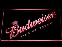 002 Budweiser Beer Bar LED Neon Sign with On/Off Switch 7 Colors 4 Sizes to choose Sent in 24 hrs(China)