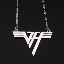 Fashion Music Van Halen rock band men and women Charm Necklace Bright silver Jewelry