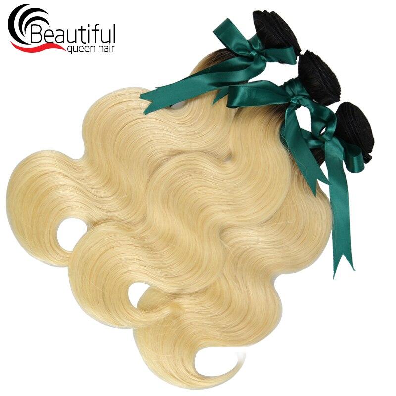human hair 1B 613 3 bundles body wave