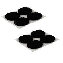 X Autohaux Office Round Eva Anti Slip Self Adhesive Furniture Foot Pads Cushions Black 38Mm Dia 8Pcs