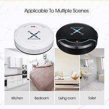 Black/White Rechargeable Robot Vacuum Cleaner Automatic Wet Dry USB Smart Floor Cleaner Sweeping Machine Household Appliances(China)