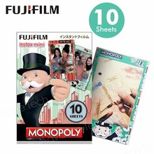 Wholesales Genuine Fujifilm Instax ,Monopoly Instant Mini Film For Mini7s 8 25 50s 70 90 SP1 SP2 LOMOphoto camera(China)