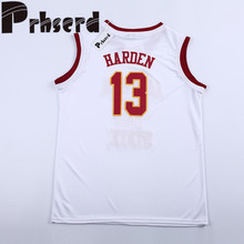 Mens #13 Toddler Maroon College Embroidered Throwback Basketball Jerseys(China)