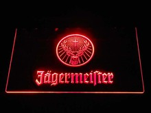 tm7126 Jagermeister Deer head LED Neon Sign