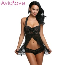Buy Avidlove Erotic Lingerie Nightwear Sexy Lingerie Lace Night Dress Sexy Underwear Women Hot Erotic Costumes Negligee Clothes