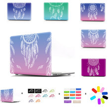 For MacBook Air 13 Pro13 with/without Touch bar 2016 Gradient Color Dream catcher Hard Case with keyboard cover dust plug