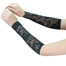 1Pair Women Fashion Summer Lace UV Tattoo Scar Arm Sleeves Cover Sun Protection(China)