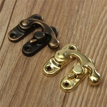 12PCS/Lot Metal Lock Catch Curved Buckle Horn Lock Clasp Hook Bag Accessories DIY Handbag Locks Closure with Screws Bronze Gold(China)