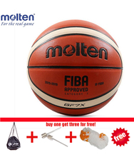 Molten GF7X Basketball Outdoor Indoor Sports Trainning Official Use Ball Size #7 Free for Needles&Net&Bag