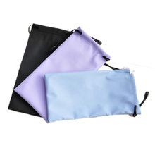 Wholesale 2016 New Arrival Tarpaulin Sunglasses Glasses Bag Soft Cloth Dust Waterproof Pouch Carry Bag