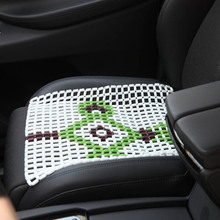 High Quality glass bead car seat cushion print summer Chinese knot square pad sofa bead(China)