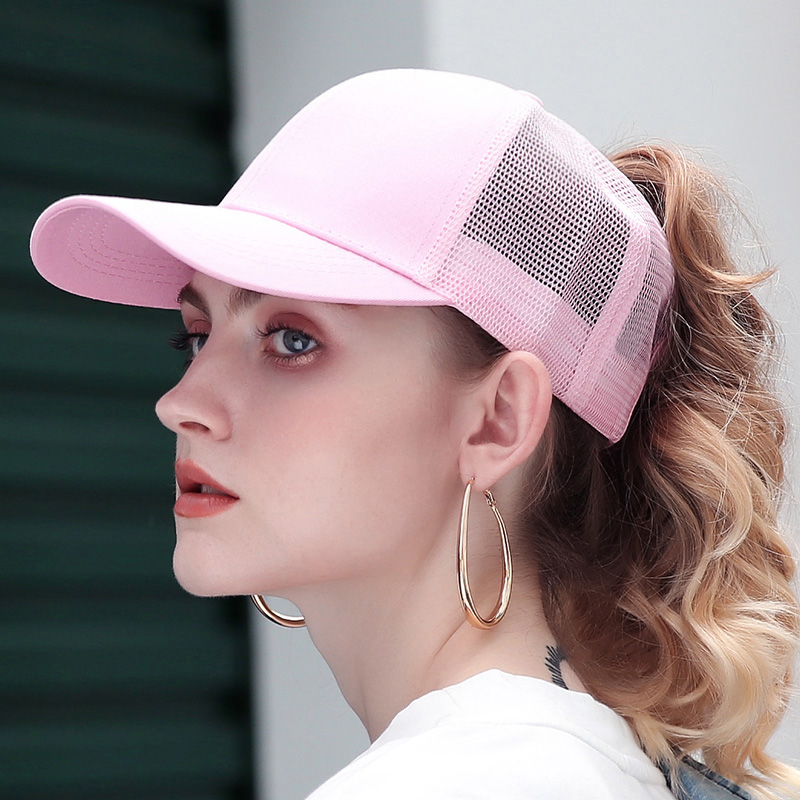 2019 Glitter Ponytail Baseball Cap Women Adjustable Messy Bun Caps Black Hat Girls Casual Cotton Snapback Summer Mesh Hats(China)