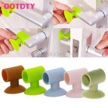 1Pc Silicone Door Handle Knob Crash Pad Wall Bumper Guard Stopper Anti Collision #G205M# Best Quality