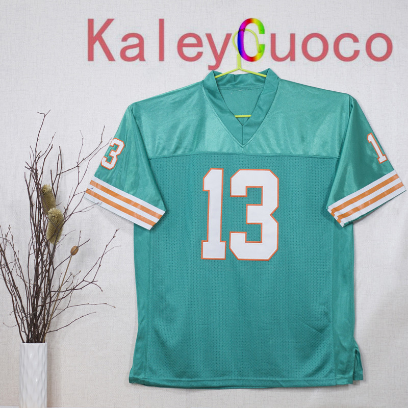 Retro star #13 Dan Marino Embroidered Throwback Football Jersey M&N 48 50 52 54 56 Jerseys(China (Mainland))