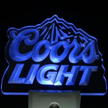 ws0002 Coors Light Bar Beer Decor Day/ Night Sensor LED Night Light Sign(China)