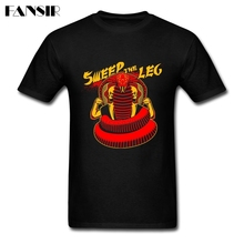 Sweep the Leg Snake Skull Graphic Men T-shirts Summer Tee Shirts Man White Short Sleeve Custom Plus Size Clothing For Team(China)
