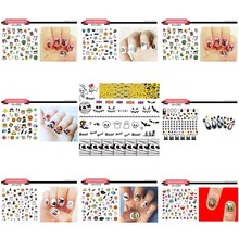 1 Sheet! Nail Art Halloween Nail Sticker Sets  Water Decals Full Nail Wraps Decoration Nails Accessories Women