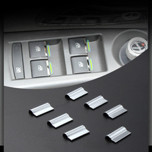 7pcs/set Car Window buttons trim decoration accessory suitable for Chevrolet Cruze Malibu TRAX/Buick Encore Excelle/Opel Mokka(China)