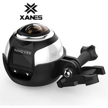 XANES 360 Mini WiFi Panoramic Video Camera 2448Ps 16MP Photo 3D Sports DV VR Video And Image ABS for Vehicle Data Recording(China)