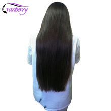 Cranberry Hair Straight Raw Indian Hair Weave Bundles 100% Human Hair Extensions Double Weft Natural Color 100g/pc Non Remy