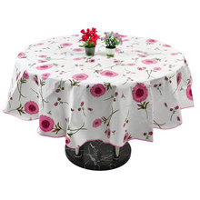 UXCELL Home Picnic Round Sunflower Pattern Water Resistant Oil-Proof Tablecloth Table Cloth Cover 60 Inch(China)