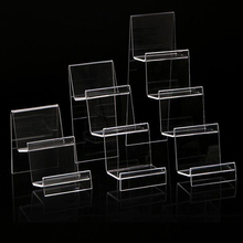 New Clear Acrylic Four Layers Cellphone Holder Mobile Phone Rack Portable Phones Shelf Wallet Stand Living Room Storage Rack(China)