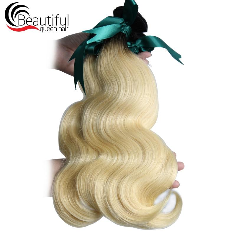 remy hair1B 613 3 bundles body wave