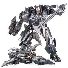 Transformation The Last Knight MW Galvatron Movie 5 Film Alloy Oversize Enlarge Plane Action Figure Leader Collection Robot Toy