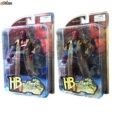 "MEZCO Hellboy PVC Action Figure Collectible Model ToySmoking Angry Style 2 Styles 7"" 18cm"