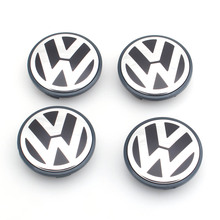 4pcs/set OEM 65mm Wheel Center Cap Logo Hub Cover Badge Emblem for VW Jetta MK5 Golf Passat(China)