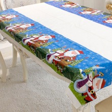 Fancyqbue  Disposable Tablecloth Christmas Decorations for Home PVC Table Cloth Home Festival Party Decoration