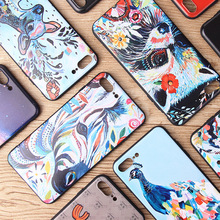 My Colors 3D Relief Painting Phone Case For iphone 6 Case silicone Protective Cover coque iphone 6s 7 8 Plus Mobile Phone Case(China)