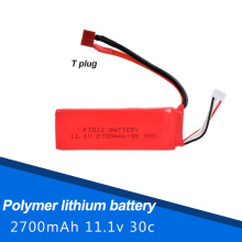 11.1 v 2700 mah lithium batteries used ft012 734 remote control car plane ship yacht model plane parts(China)