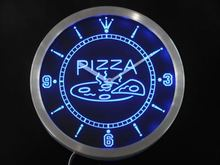 nc0244 OPEN Hot Pizza cafe Restaurant Neon Sign LED Wall Clock(China)
