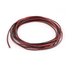 UXCELL 5M 22Awg 0.3Mm2 Red Black Dual Core Cable Wire For Car Auto Speaker Led Lights