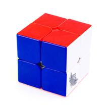 New Cyclone Boys Stickerless 2x2 Magic Cube 2x2x2 Speed Cube No Stickers Educational Toys Children Gift Toy(China)
