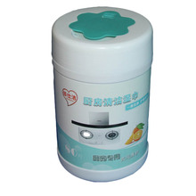 Disposable kitchenware lampblack machine cleaning wipes 80pcs barreled to oil wet wipes 16*21cm